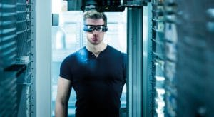 KNAPP data glasses; smart worker, working environment of the future, working in logistics and production.