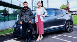 Sustainability in action: Murat and Lydia are delighted about the KNAPP goes green initiative and make use of all the opportunities, be that electric cars or free tickets for public transport.
