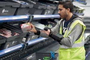 RF-Picking, manuell kommissionieren, papierlos, Effizienz, Qualität, Auftragsbearbeitung; Logistik