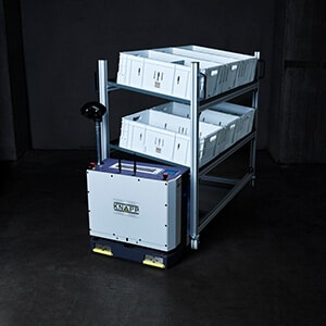 AGV; autonomous mobile robots, Open Shuttle; containers, small racks, special load carriers, AMR