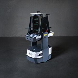 AGV; autonomous mobile robots, Open Shuttle; magazine transport