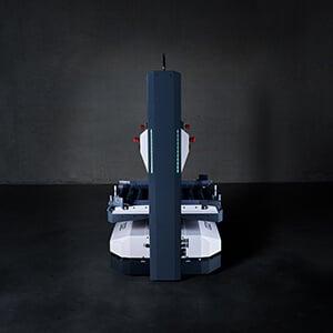 Le dispositif de levage intégré de l'Open Shuttle se trouve à la position la plus basse.