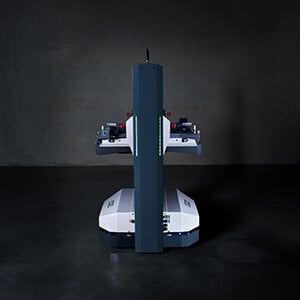 Le dispositif de levage intégré de l'Open Shuttle permet une flexibilité en termes de hauteur de prise et de dépose.