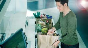 Online-Lebensmittelhandel, E-Commerce, OSR Shuttle Evo, automatisches Lagersystem, autonome mobile Roboter, AMR Micro Fulfillment