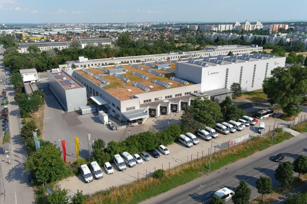 Vista aérea de las instalaciones del cliente Herba Chemosan Apotheker AG, Viena.