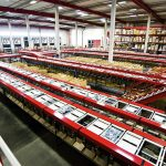 The Split Tray Sorter sorts 15,000 items per hour.