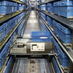 The goods-to-person OSR Shuttle™ system efficiently and securely processes and stores most of the SKUs in minimal space.
