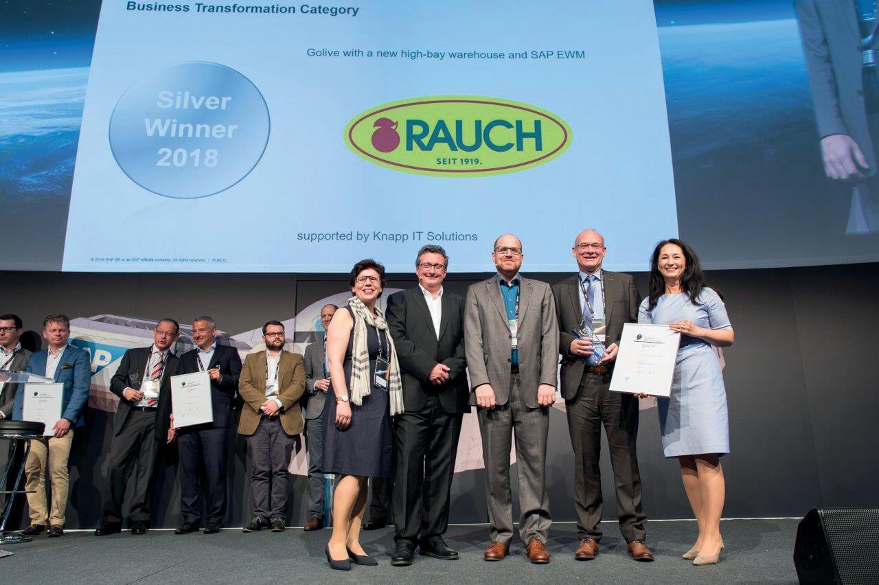 Rauch wins quality award for SAP® EWM by KNAPP - KNAPP
