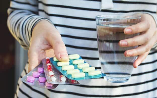 Einnahme verschiedener Tabletten