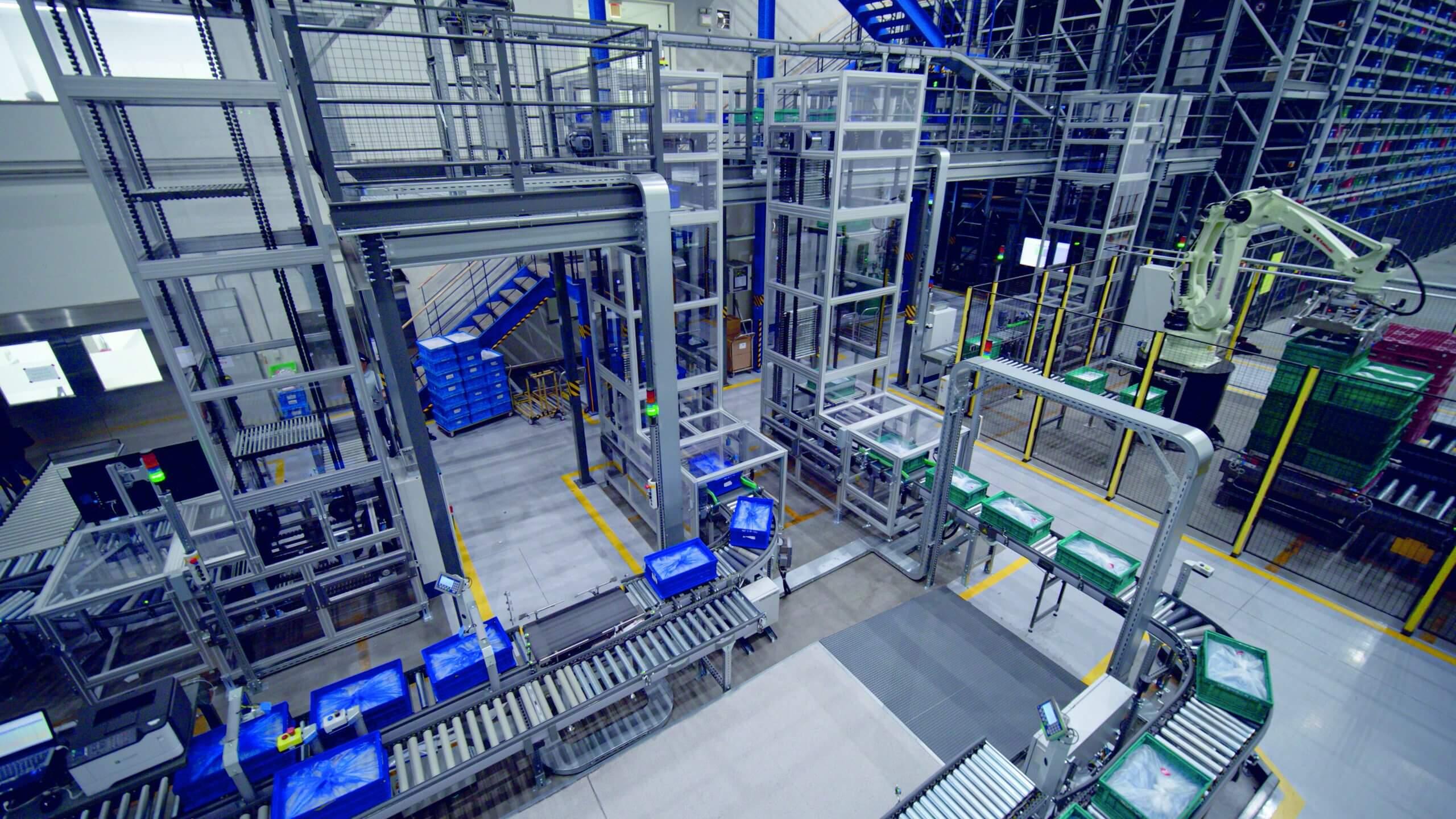 Wareneingang Amorepacific, Depalettierung, Roboter, Depalettierroboter, Automatisierung für Kosmetik, Produktion, Logistik, Intralogistik
